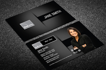 Real living real estate business cards free shipping black silver real living business card template reheart Images