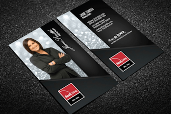 Real living real estate business cards free shipping real living business card w agent portrait vertical reheart Images